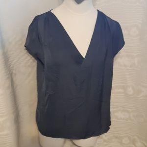 H & M gray V neck Blouse size 8